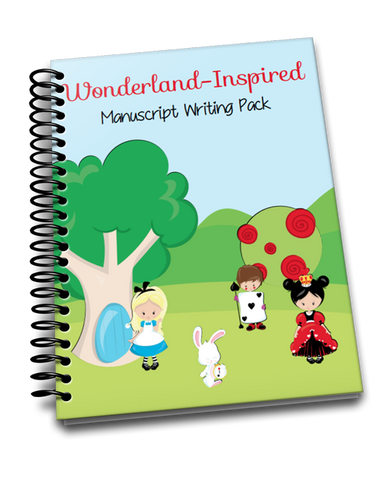 Wonderland-Inspired Manuscript Handwriting Pack
