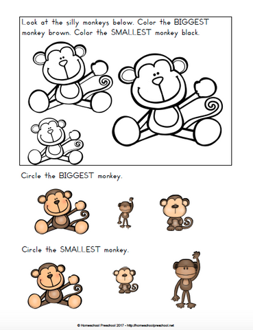 Monkey Themed Learning Pack