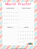 March Planner for Middle and High Schoolers