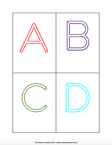 Alphabet Clip Cards (6 Sets)