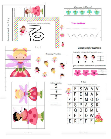 Spring Fairies Early Learning Pack