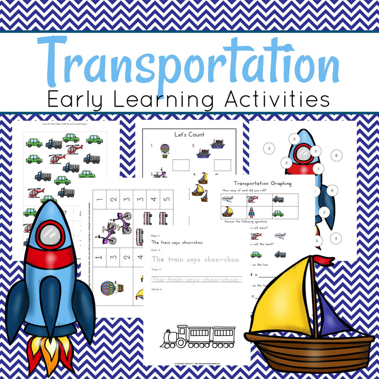 Transportation Themed Learning Pack