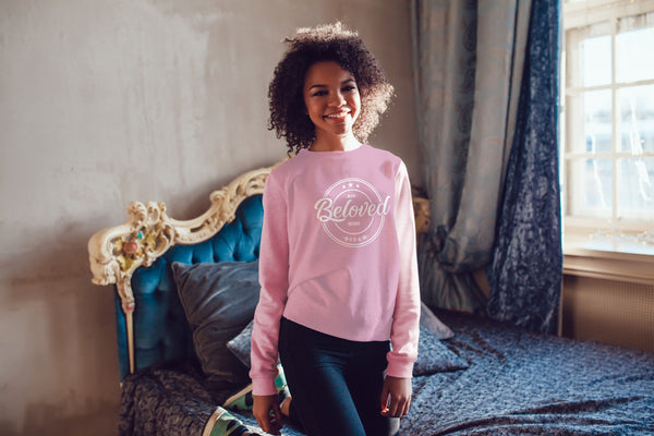 BELOVED- LADIES SWEATSHIRT- PINK (#DARLING SERIES)