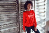 BELOVED- LADIES SWEATSHIRT- RED (#DARLING SERIES)