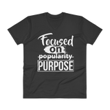 FOCUS- UNISEX V-NECK SHIRT- BLACK (#AFFIRMATION SERIES)