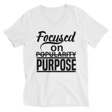 FOCUS- UNISEX V-NECK SHIRT- WHITE (#AFFIRMATION SERIES)