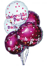 Bachelorette Party Foil Balloons Assorted Colors 9 Per Pack