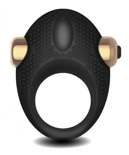 Frederick's of Hollywood Couple`s Vibrating C-Ring Black