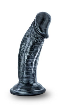 Jet Blackberry 4 inches Dildo Carbon Metallic Black
