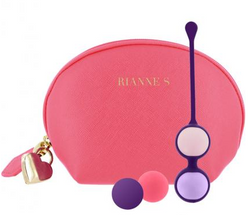 Rianne S Pussy Playballs with Cosmetic Case Coral Rose
