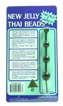 Jelly Thai Beads Black