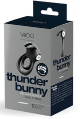 Thunder Rechargeable Vibrating Dual Cock Ring w/ 1 year Warranty