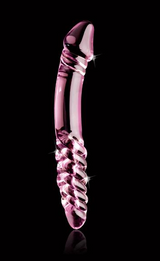 Icicles No 57 Glass Double Dildo Pink