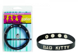 Wordband Collar Bad - Kitty - Black