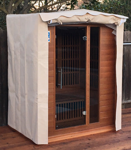 Durango Infrared Sauna with Outdoor Cover from Rocky Mountain Saunas