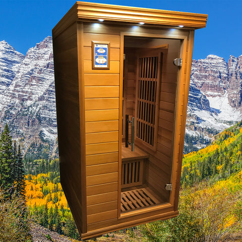 Infrared saunas by rocky mountain saunas the best value for Home sauna