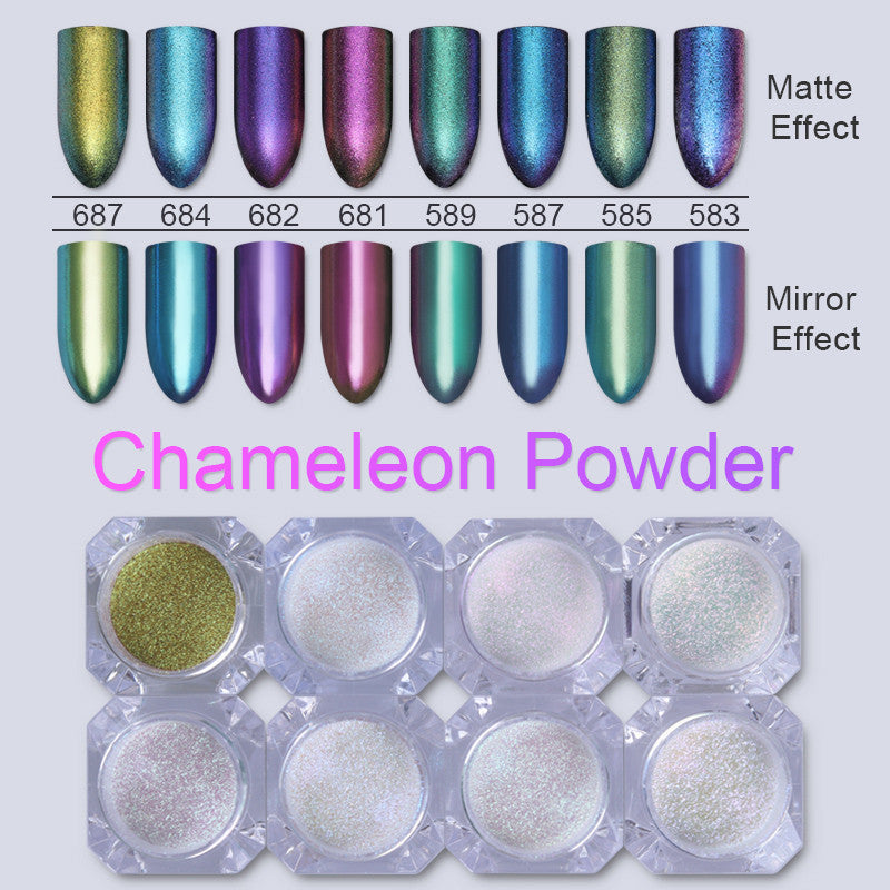 Chameleon Glitter Nail Art Powder Set