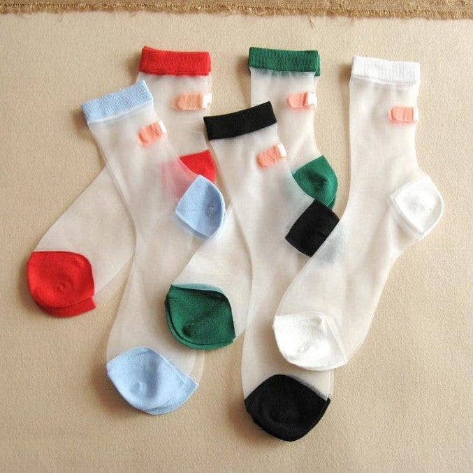 Patchwork Casual Socks