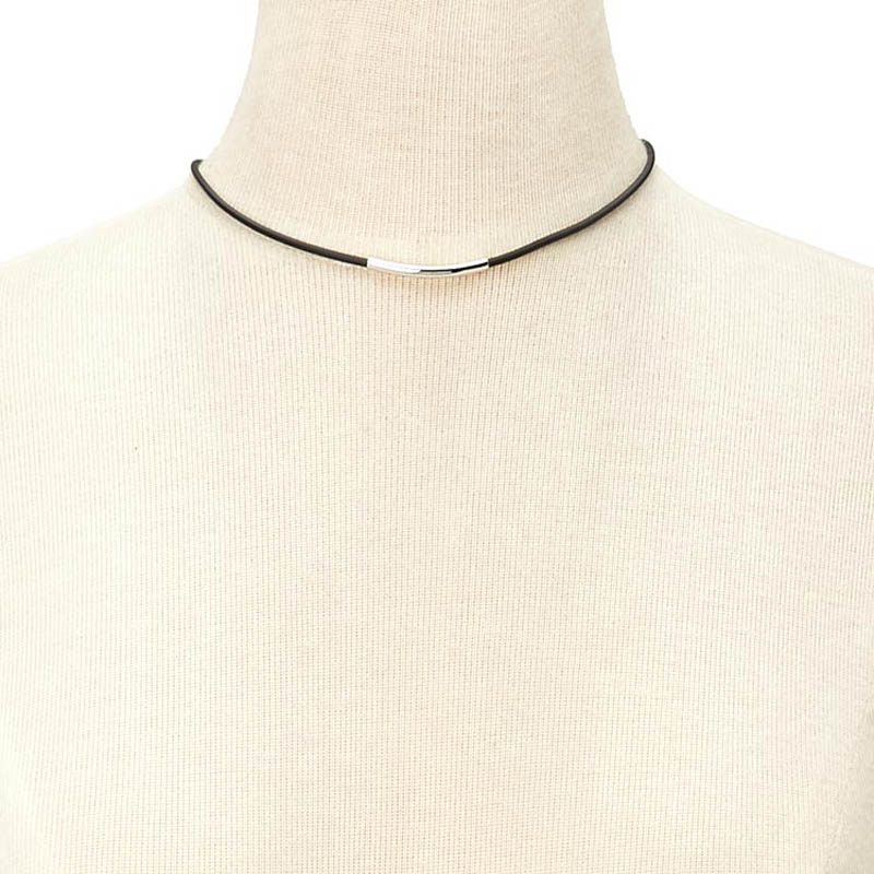 Simple Curved Tube Collar Necklace