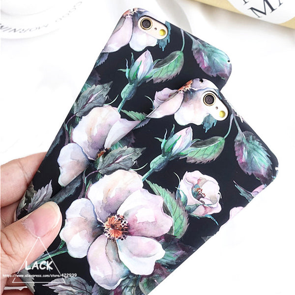 Camellia Flower Print Phone Cases For iPhone