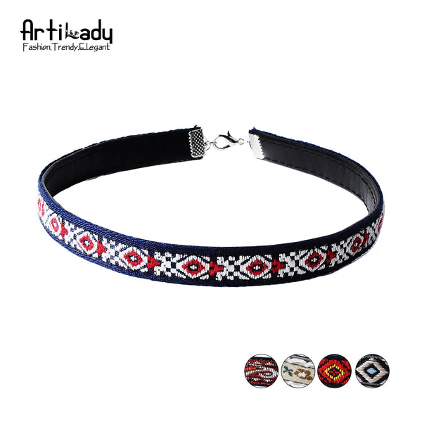 Multicolor Leather Bohemia Chokers Necklac