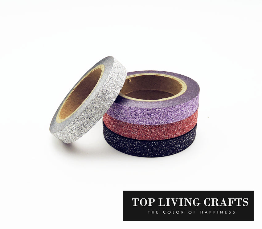 Glitter Washi Decorative Scrapbooking Tapes (4 Pieces)
