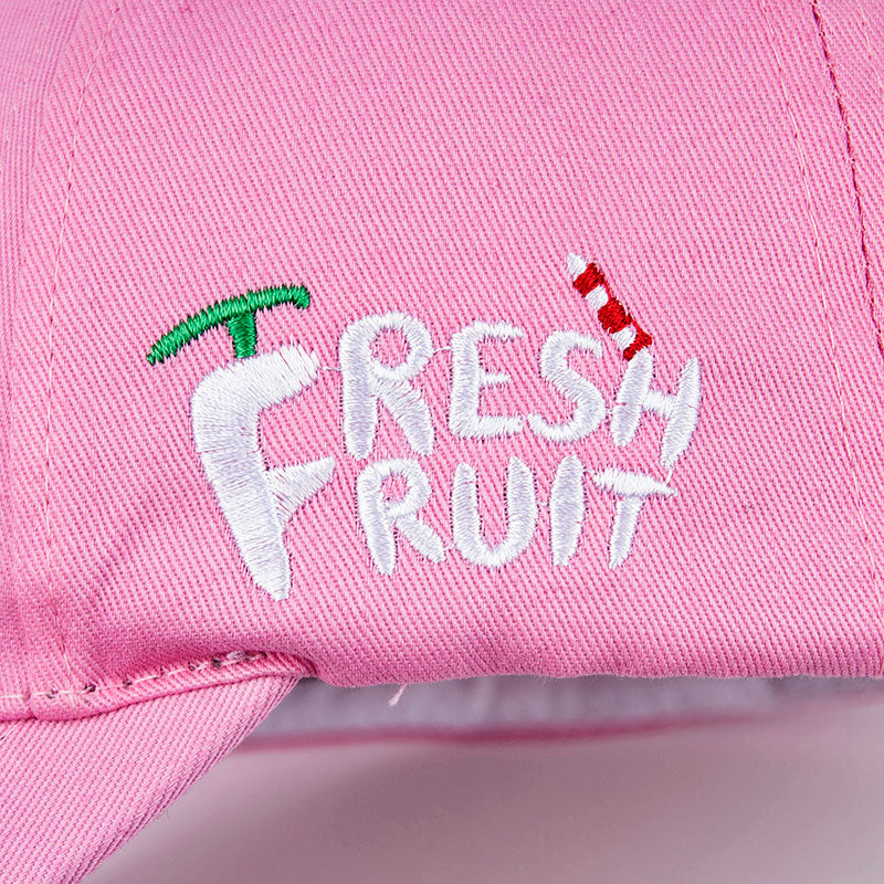 Fresh Fruit Embroidery Cap