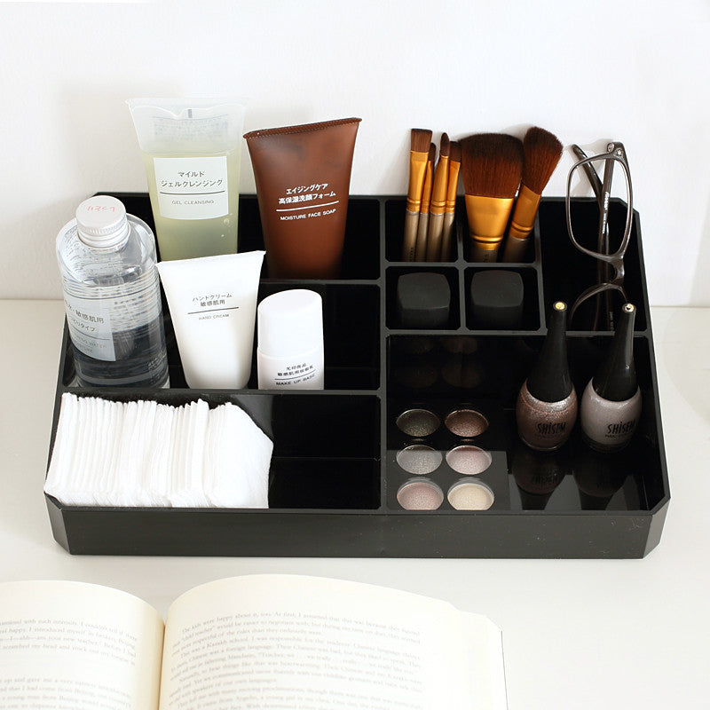 Transparent Acrylic Makeup Organizer (9 Grid)