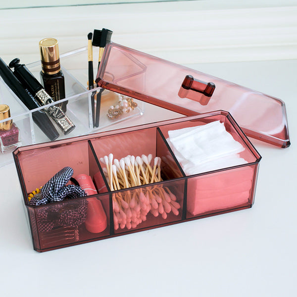 Transparent Acrylic Box with Lid (3 Grid)