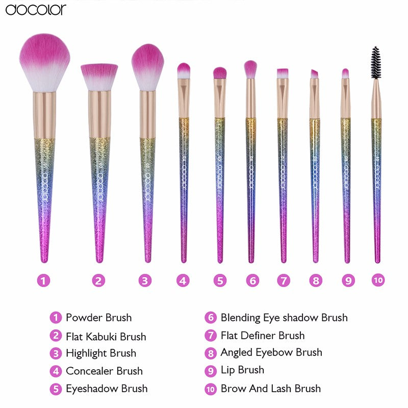Docolor Fantasy Makeup Brushes (10/16 Brushes)