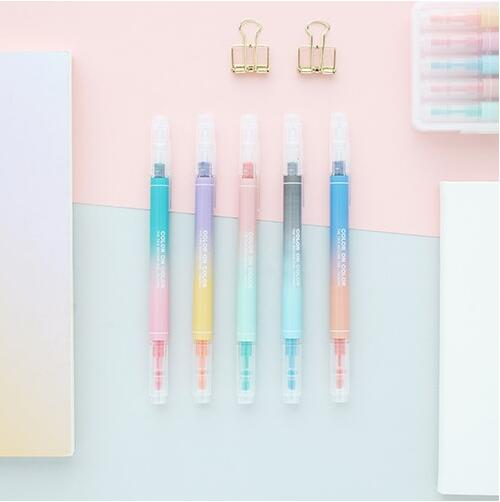 Twin Colors Highlighter Pen (5 Pens)