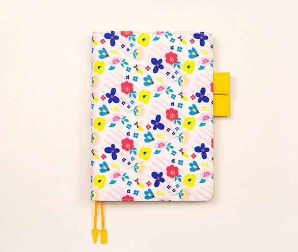 Cute Flower Print Leather Journal Cover