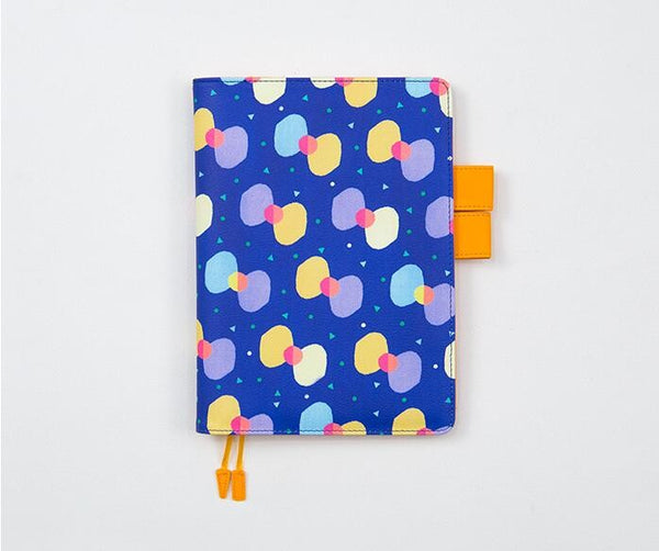 Bow Knot Geometric Print Leather Journal Cover