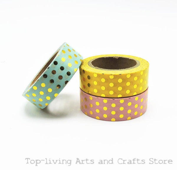 Golden Dots Foil Scrapbooking Tapes