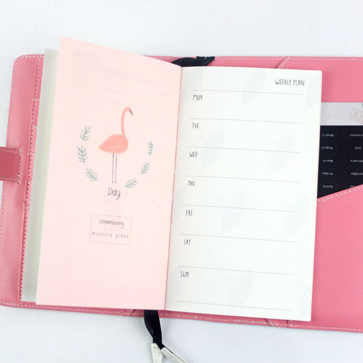 Flamingo Spring Is Coming 2017 Weekly Planner