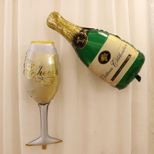 Champagne and Cup Foil Decoration Balloon