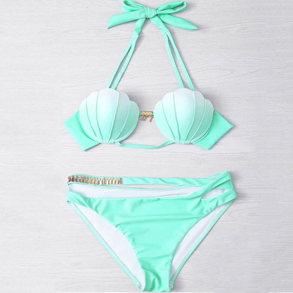 Gradient Shell Bikini Set