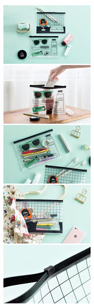 Creative Transparent Document Zipper Bag