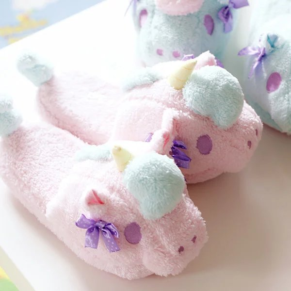 Twin Unicorn Soft Soled Slippers