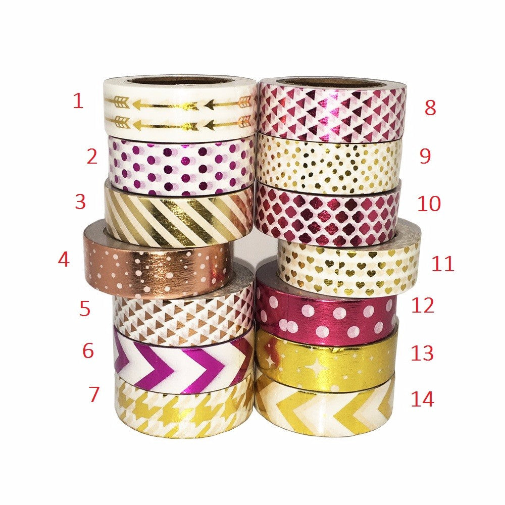 Geometric Series Adhesive Scrapbooking Tapes