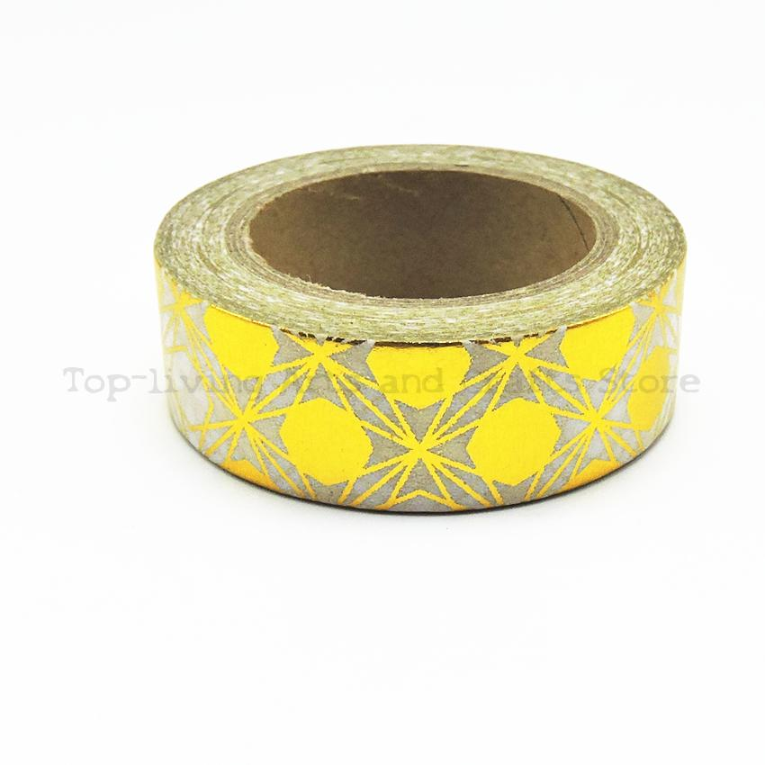Golden Round Foil Scrapbooking Tape