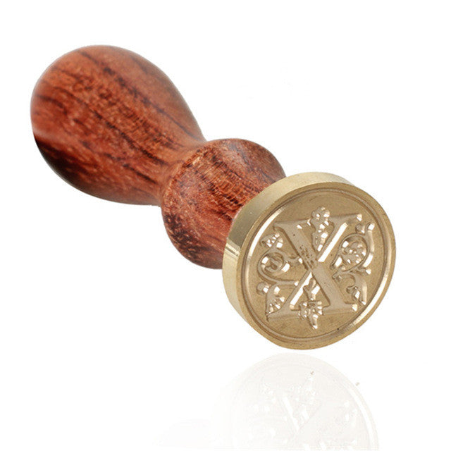 A-Z Alphabet Retro Wood Sealing Wax Stamp
