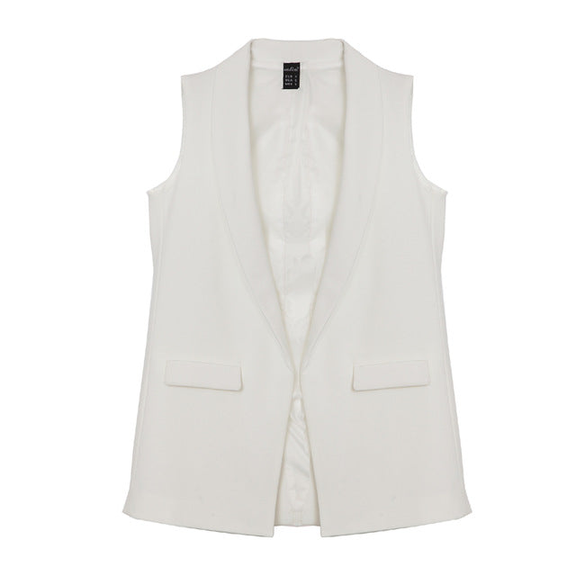 Elegant Office Lady Sleeveless Jacket