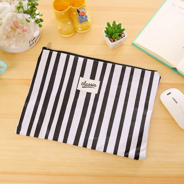 Classic Document and Stationery Zipper Bag