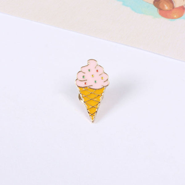Ice Cream Brooch Pin