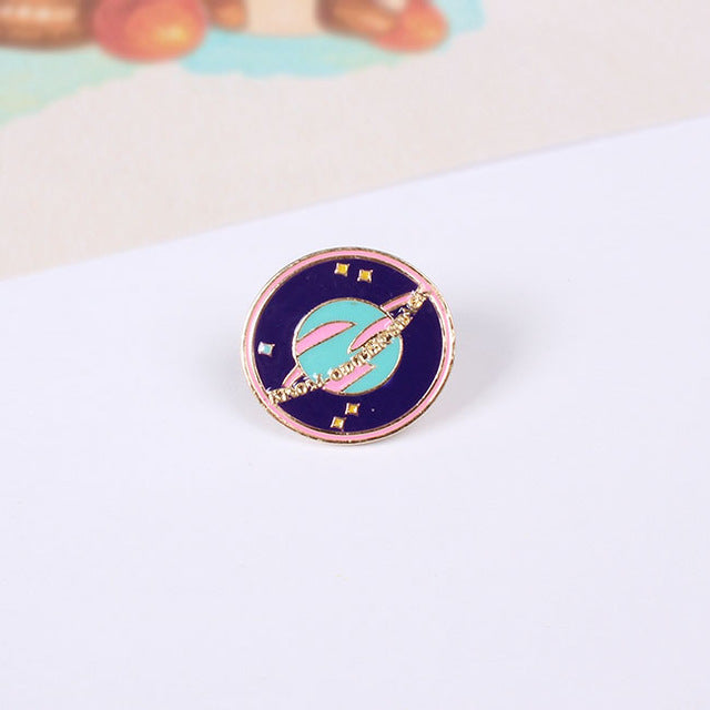 Planet Brooch Pin