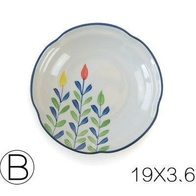Hand Painted Pastoral Ceramic Plate