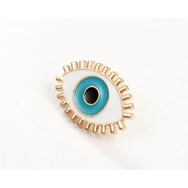 Blue Eye Cute Enamel Brooch Pins