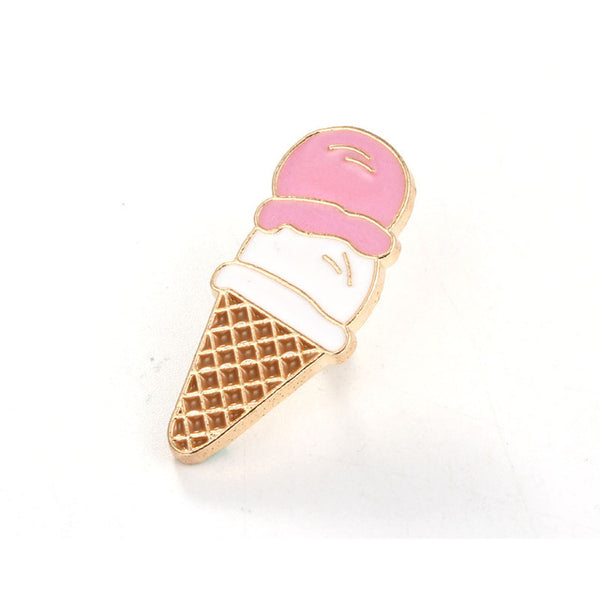 Ice Cream Cute Enamel Brooch Pins