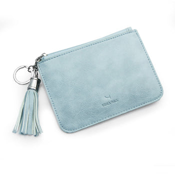 Candy Color Thin Tassel PU Leather Coin Purse